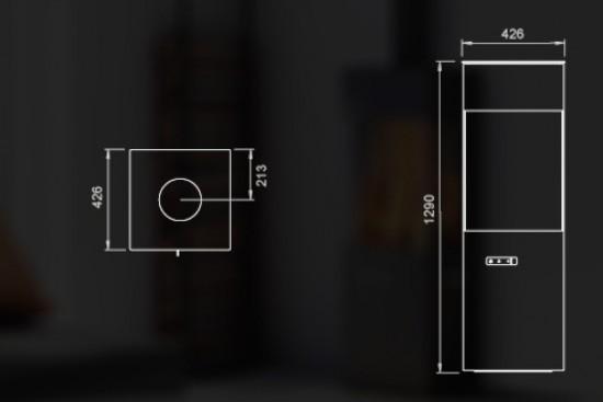 estufa q 20 comercial esteller sl chimeneas y estufas. Black Bedroom Furniture Sets. Home Design Ideas